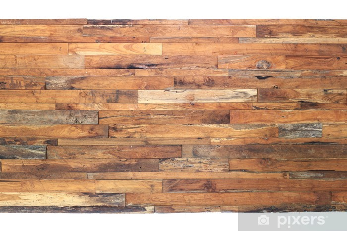 brown wood plank background Vinyl Wall Mural - Themes