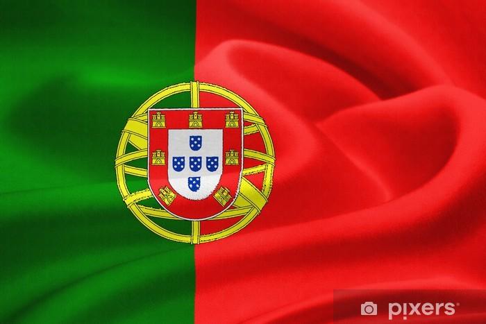 Nálepka Pixerstick Vlajka Portugalska - Evropská města
