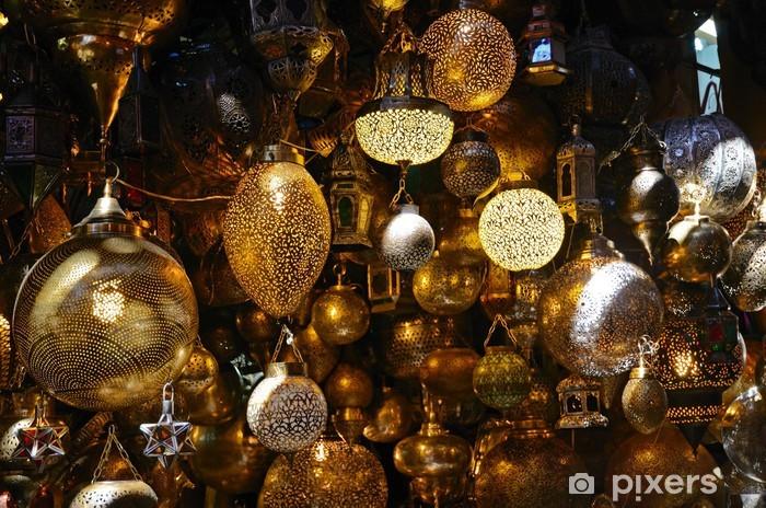 Naklejka Pixerstick Shaining lampy marokańscy - Afryka