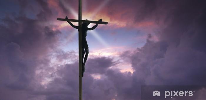 Naklejka Pixerstick Jezus Chrystus na krzyżu - Tematy