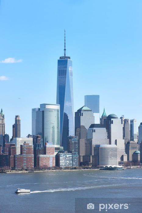 Fototapeta winylowa New York City Manhattan skyline - Miasta amerykańskie