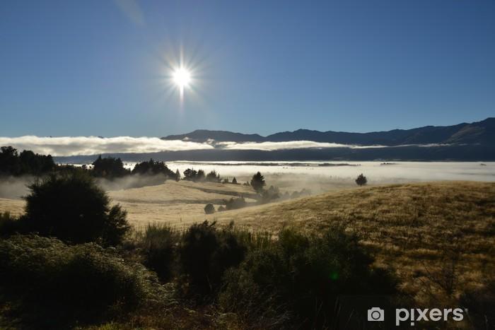 Vinyl-Fototapete Morgen nebligen Landschaft zwischen Wanaka und Hawea, Südinsel - Ozeanien