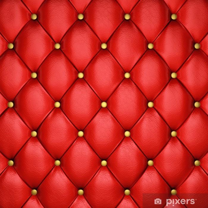 Papier Peint Rouge Motif De Sellerie En Cuir Avec Boutons Dores