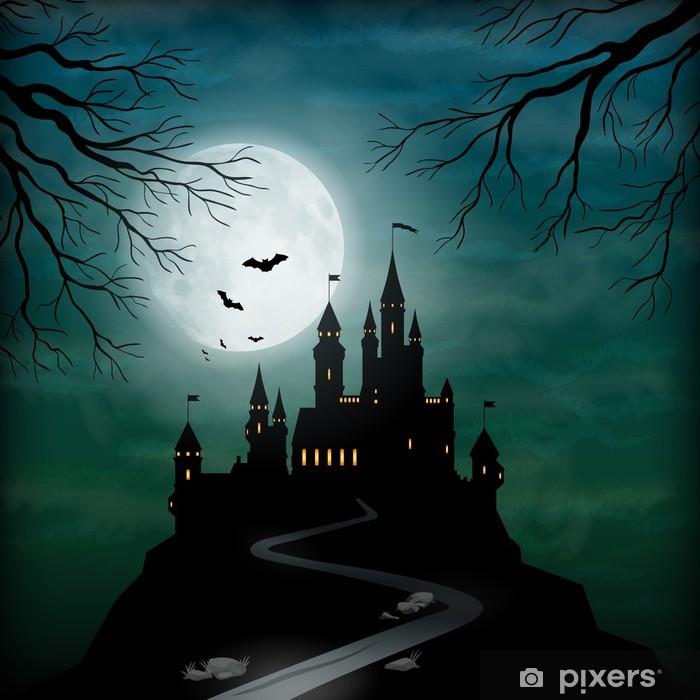 Fototapeta winylowa Wektorowych fantasy zamku księżyca niebo - Tematy