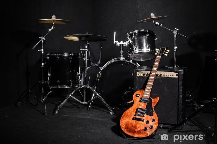 Set of musical instruments during concert Pixerstick Sticker - Music