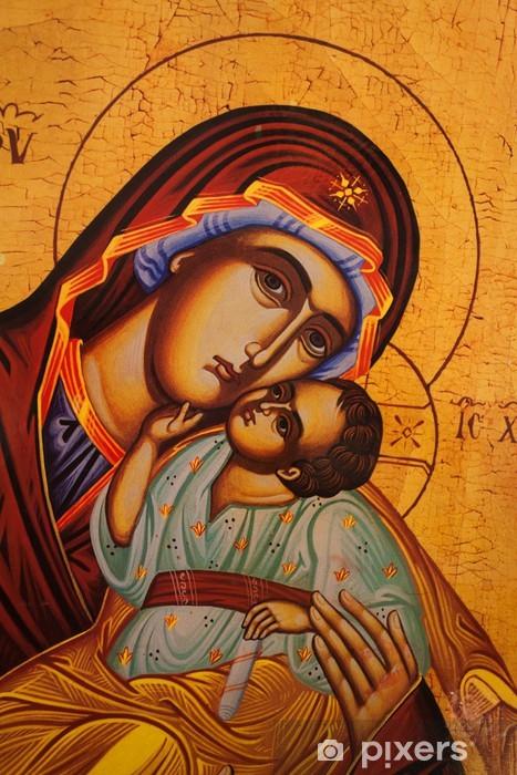 Pixerstick-klistremerke Tradisjonell ortodoks ikon av mor Maria - Themes