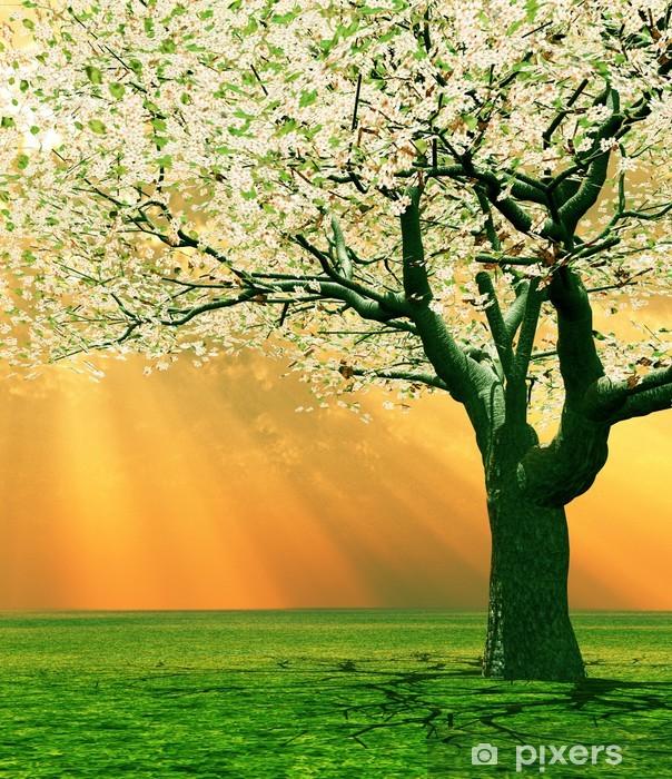 Sticker Pixerstick Paysage de printemps - Saisons