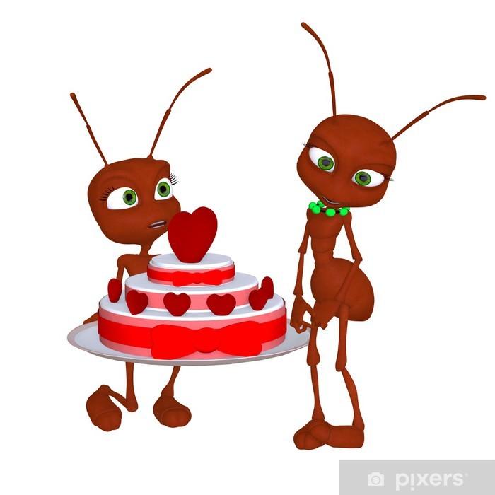 Papier peint vinyle Ant dans l'amour - Bonheur