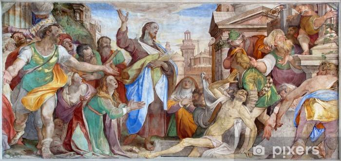 Carta da parati venezia resurrezione di lazzaro nella chiesa di
