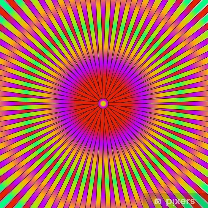 Pixerstick Aufkleber Bunte abstrakte psychedelische Kunst Hintergrund. Vektormit - Themen