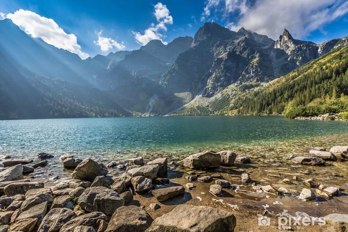 Fotomural Estándar Lago de montaña verde agua Morskie Oko, Tatra, Polonia - Temas