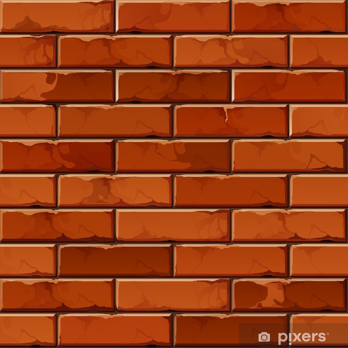 Vector Brick Wall Background Texture Pattern Poster - Themes