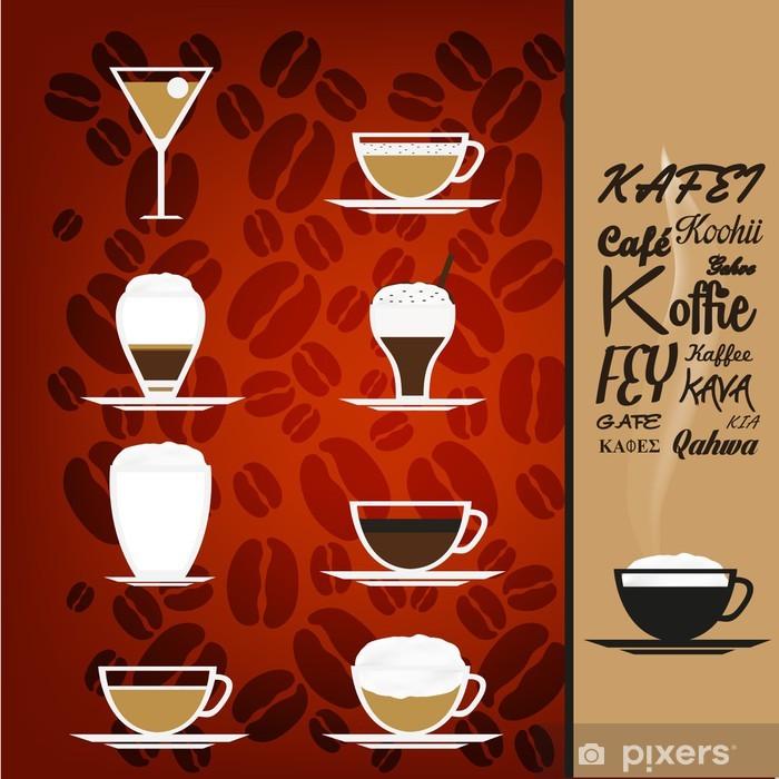 Plakat Filiżanek kawy - Restauracja - Posiłki
