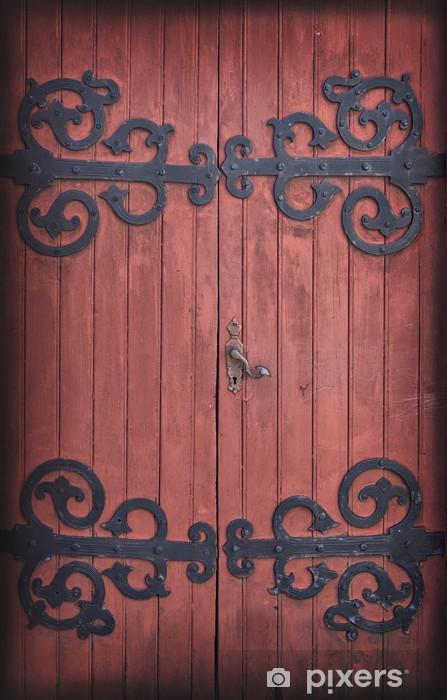 Sticker Pixerstick Ancienne porte de grange en bois - Maisons et jardins