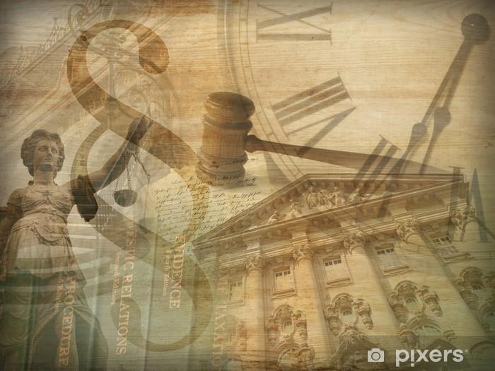 Carta da Parati in Vinile Giustizia collage - iStaging