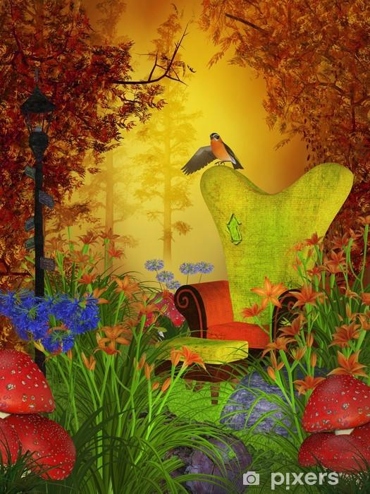 Sticker Pixerstick Journée fantastique d'automne dans la forêt - Esotérisme