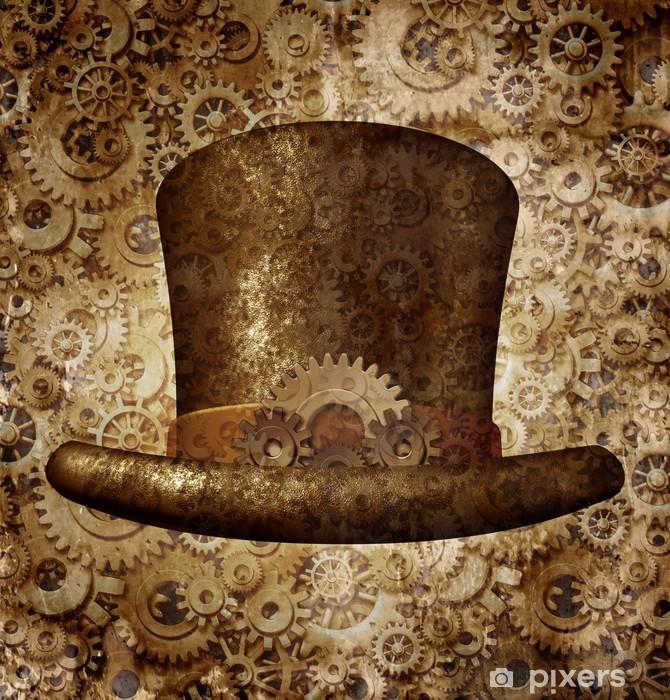 Steampunk Top Hat Vinyl Wall Mural - Steampunk