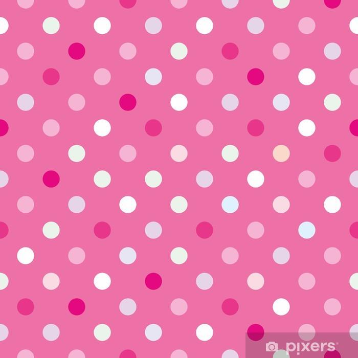 Pixerstick Sticker Vector achtergrond met stippen op baby roze achtergrond - Thema's