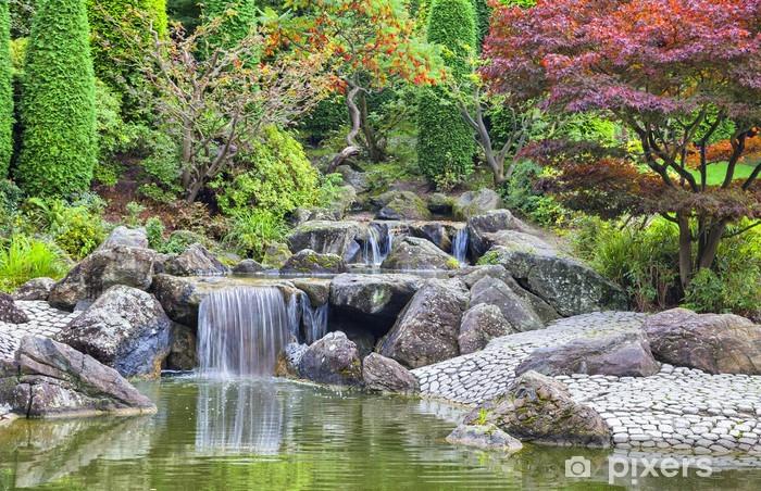 Waterval In Tuin : Fotobehang cascade waterval in de japanse tuin in bonn u2022 pixers