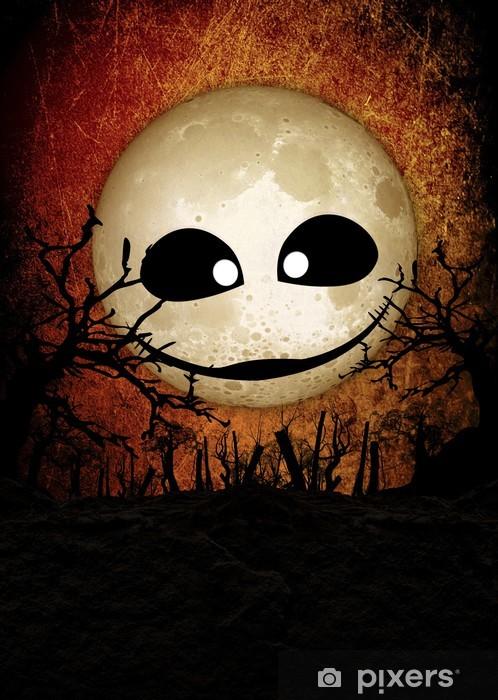 Papier peint vinyle Lune effrayant festival fond Halloween - Thèmes