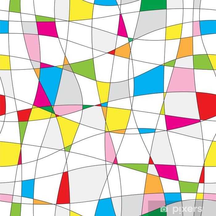 Naklejka Pixerstick Bezszwowe tło wzór abstrakcyjna wektorowe - Tła
