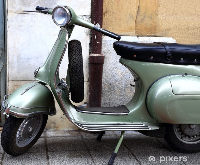 Pixerstick Aufkleber Old Scooter - Straßenverkehr