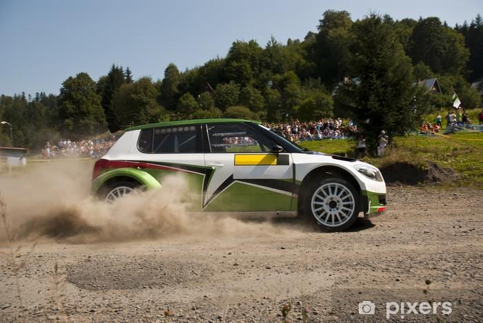 Sticker Pixerstick Rallye automobile en action - Fabia S2000 - Sports extrêmes