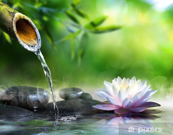 Vinyl Fotobehang Zen tuin met massage stenen en waterlelie - Stijlen