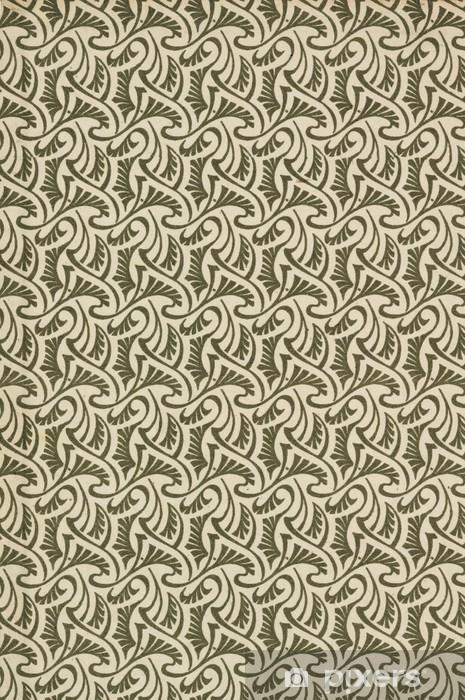 Bord- og skrivebordsklistremerke Hintergrund gedrucktes Muster i Jugendstil als Reproduktion - Bakgrunner