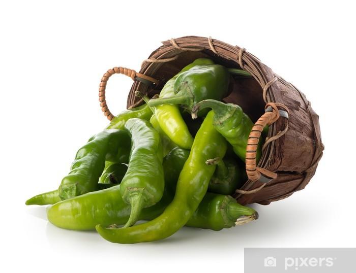 Sticker Pixerstick Pepper dans un panier - Agriculture