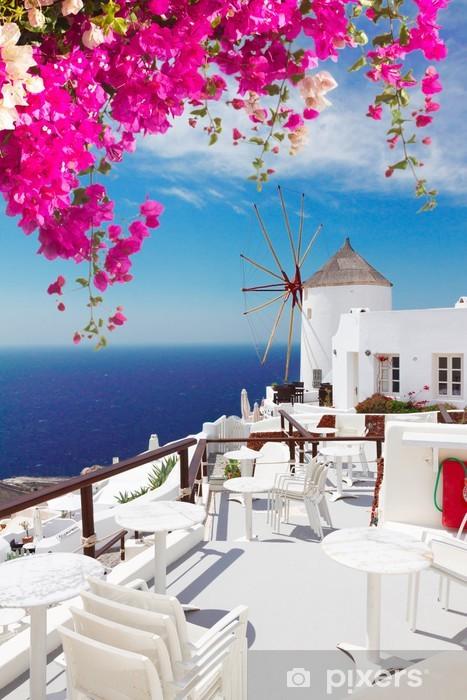 Fototapeta winylowa Wiatrak z Oia, Santorini - Santorini
