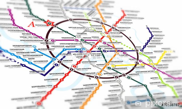 Fototapet Karta Tunnelbana Pixers Vi Lever For Forandring