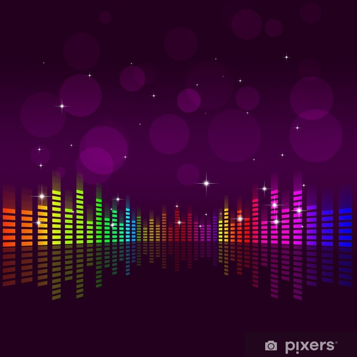 Music Equalizer Background Wall Mural - Vinyl