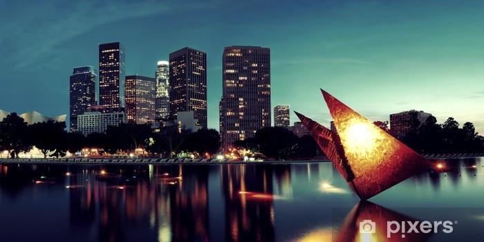 Los Angeles at night Pixerstick Sticker - Themes