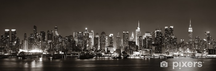 Midtown Manhattan skyline Vinyl Wall Mural -