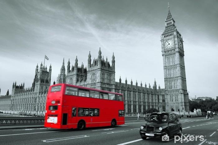 Naklejka Pixerstick Autobus w Londynie -