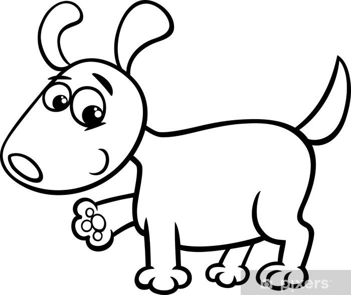 Vinilo Para Nevera Para Colorear De Dibujos Animados Cachorro De Perro