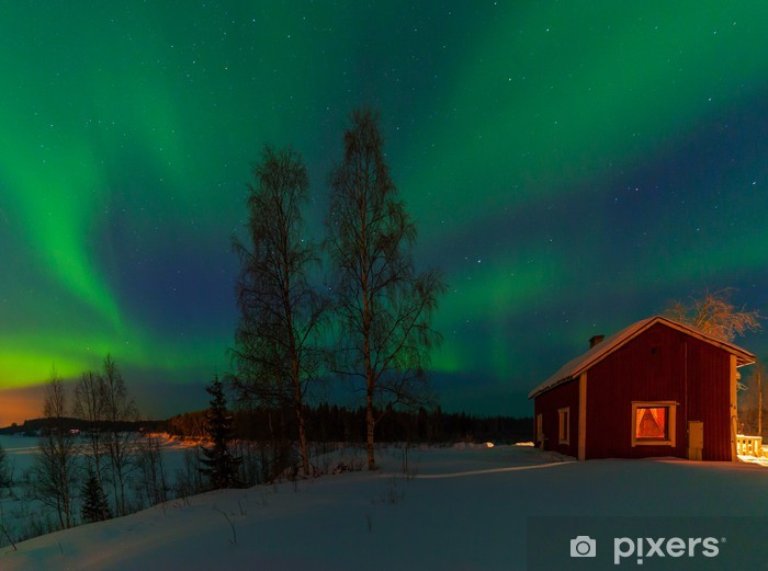 Fotomural Estándar Luces del norte - Cielo