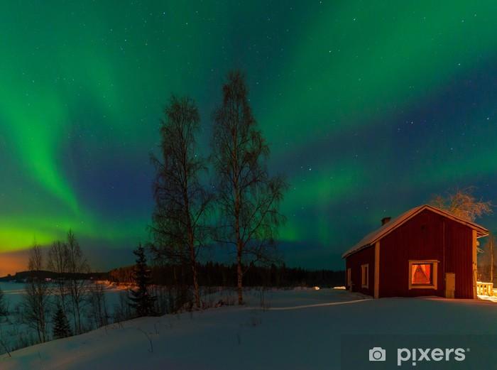 Fototapeta winylowa Zorza polarna - Niebo