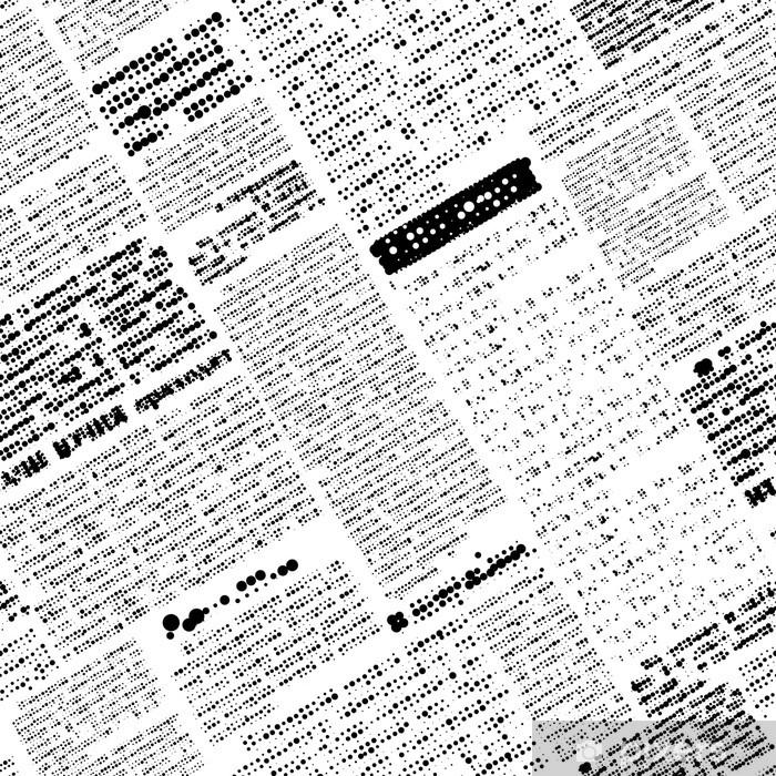 Imitation of newspaper Pixerstick Sticker - Sales