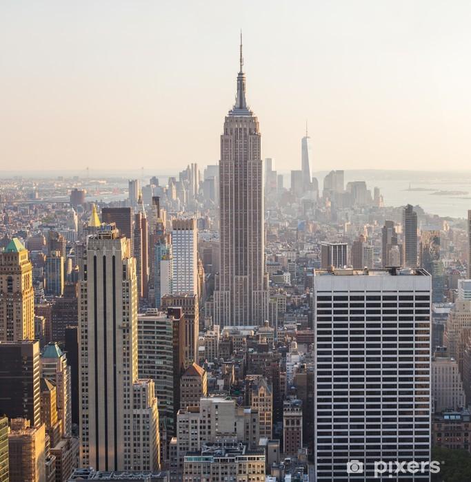 Aerial View of Manhattan, New York Pixerstick Sticker - Themes