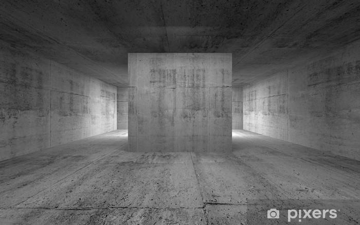 Fototapete Leerer Raum Abstrakte Konkrete Innenraum 3d Render