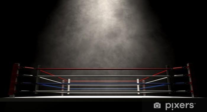 Fototapeta winylowa Ring bokserski spotlit ciemno - Tematy