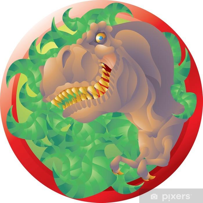 Poster Emblème de T rex buste - Sticker mural