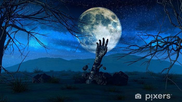 Papier peint vinyle Halloween background avec la main zombie - Thèmes