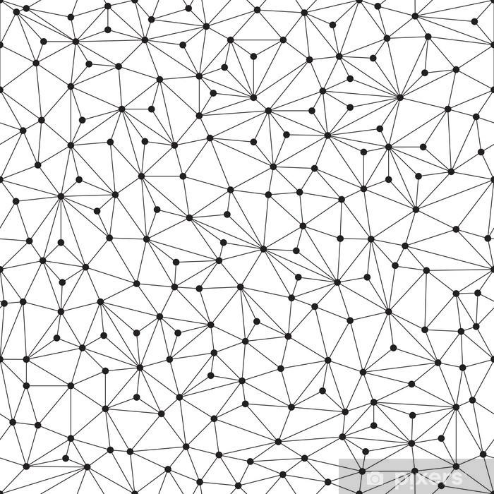 Pixerstick Aufkleber Polygonal Hintergrund, nahtlose Muster, Linien und Kreise - Technologie