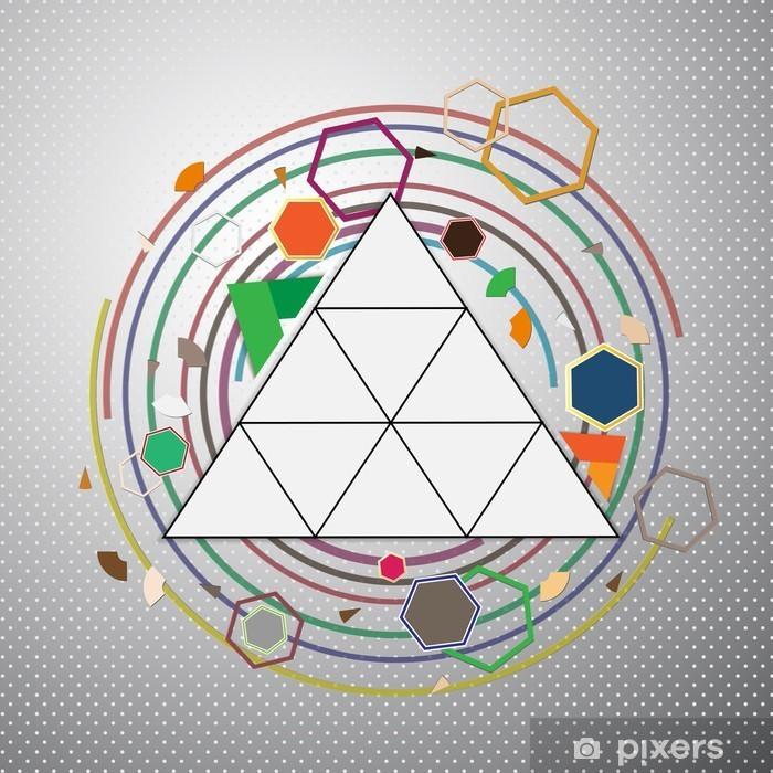 Vinyl-Fototapete Zusammenfassung Hintergrund mit geometrischen Formen - Hintergründe