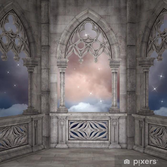 Naklejka Pixerstick Elfi pałac w tle - Tematy