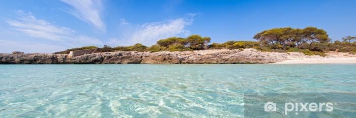 Fototapeta winylowa Panoramiczny widok na cala talaier w Menorca - Wakacje