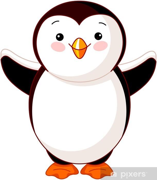 Sticker Pixerstick Bébé pingouin mignon - Sticker mural